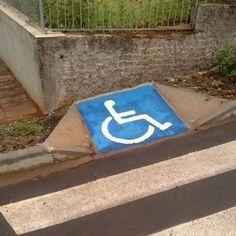 useless curb cut - accessibility fails