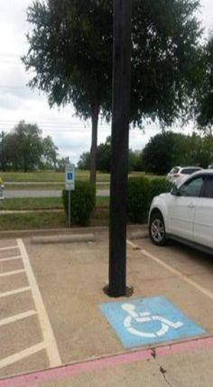 Handicapped parking spot fail - accessibility bloopers
