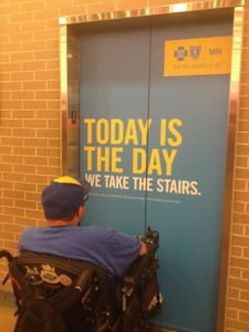 day to take the stairs