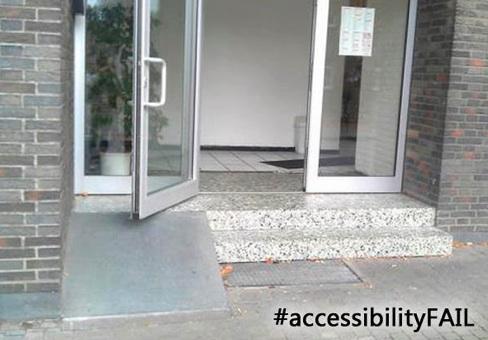 wheelchair ramp fail - accessibility fail