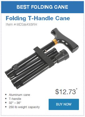 Best Folding Cane: Folding T-Handle Cane